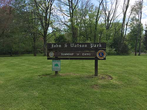 Watson Park Entrance Sign
