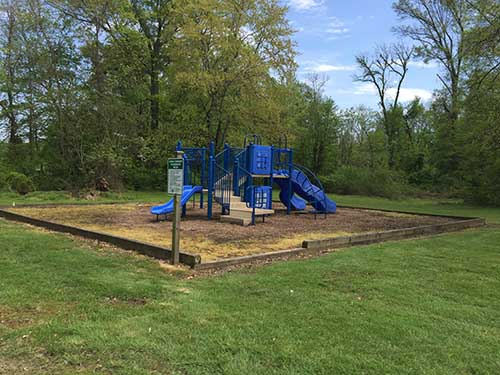 Playground equipment at Watson Park