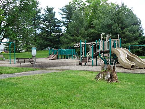 Playground equipment at Banchoff Park