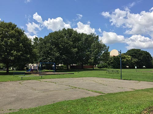 pickup basketball court at Sherbrooke Park