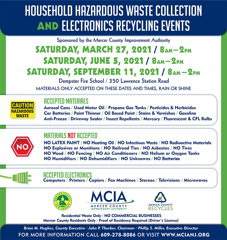 MCIA Hazardous Waste Disposal Day Flyer