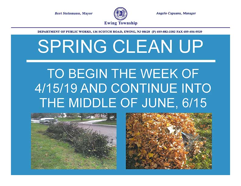 Spring 2019 Brush and Yard Waste Cleanup flyer